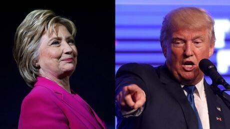 Clinton and Trump composite