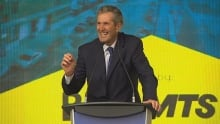 Brian Pallister at Innovation Alley announcement