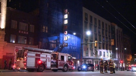Vancouver firefighters battle blaze in Vancouver's Regent Hotel