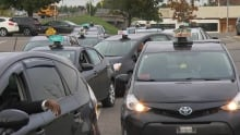 Taxi drivers head to QC protest