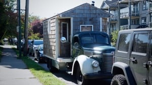 Man, 68, living in tiny house on 1946 classic truck