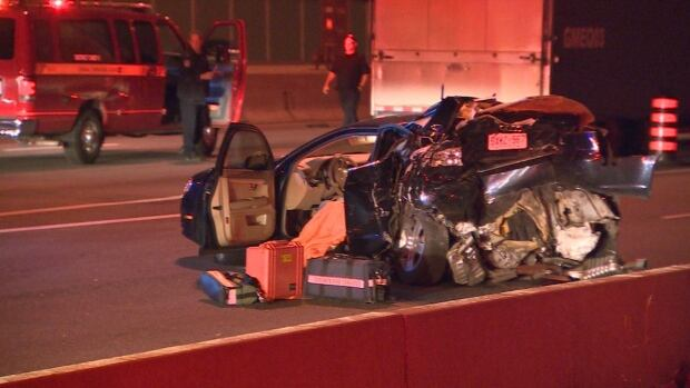 Woman killed in Hwy. 401 crash early Thursday