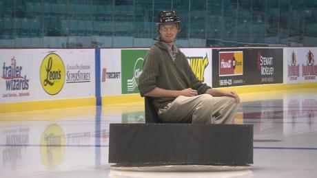 James Upham human hockey puck
