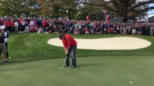 Ryder Cup fan heckles Euros, sinks putt for $100