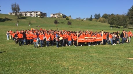 Mission students mark Orange Shirt Day with march to honour Native elders
