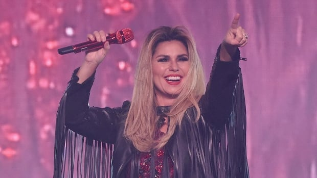 Shania Twain, seen performing in New York in 2015, will the first woman to receive the CMT Artist of a Lifetime award.