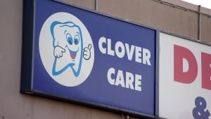 Clover Care dental clinic sign