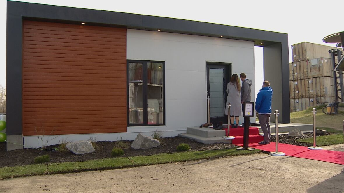 Edmonton company novh us shows off new shipping container homes edmonton cbc news - Shipping container homes toronto ...