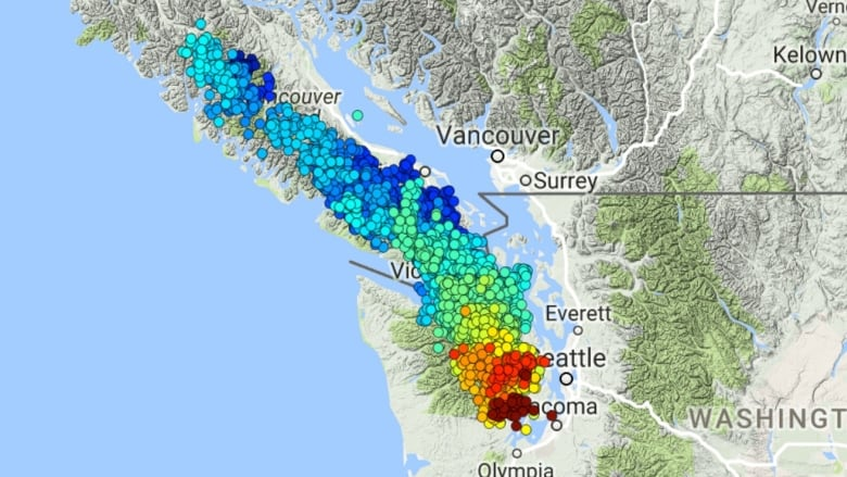 When Is Slow Slip Tremor Period On Vancouver Island