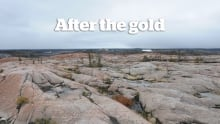 Rocks outside of Yellowknife, downwind of Giant Mine