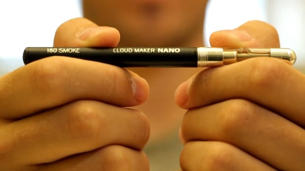 Closeup of e-cigarette