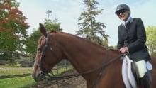 Dinnie, 96, on her horse Randule