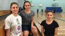 Syrian refugee basketball girls