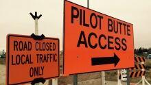 Pilot butte access closed along Highay 1