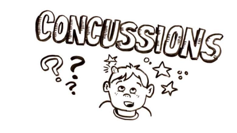 Concussion cartoon