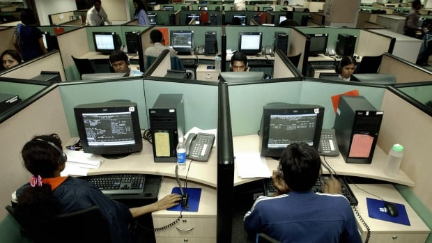 A view of the ICICI Onesource call centre