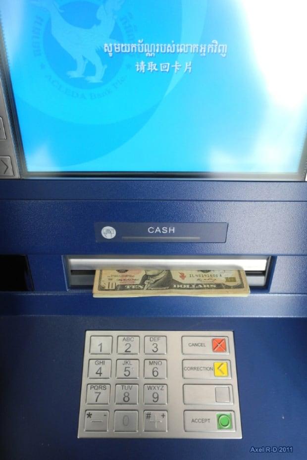 Cambodian bank machine