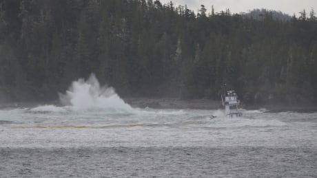 Heiltsuk First Nation Chief questions diesel spill response after booms fail in adverse weather