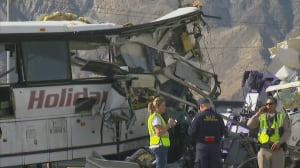 At least 13 killed, dozens injured in California tour bus crash