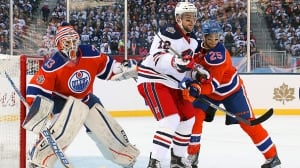 Cam Talbot earns SO as Oilers blank Jets at Heritage Classic