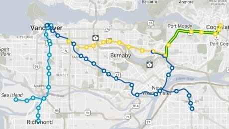 SkyTrain network changes could snarl Monday's commute for some