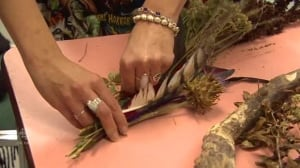 Broom-making workshop helps dispel 'misconceptions about what a witch is'