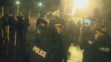 Police at Muskrat Falls Protest