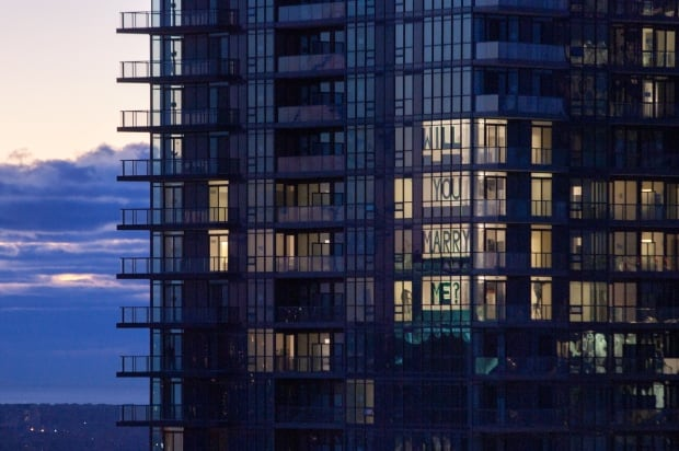 Proposal in a Toronto window 1