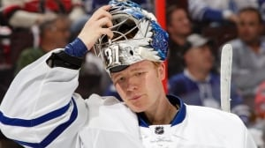 James Reimer can feel Frederik Anderson's pain