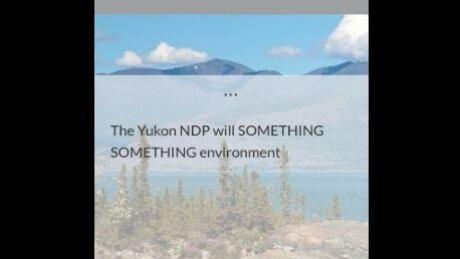 Yukon NDP slip-up promises 'something something'
