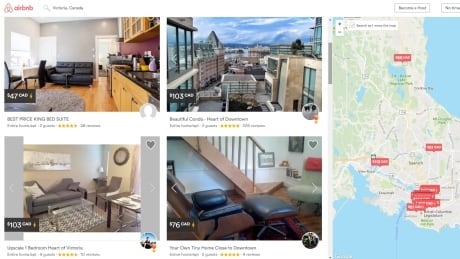 Airbnb taking 300 units out of Victoria's rental pool, council told