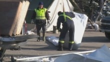 Muskrat Falls protest cleanup