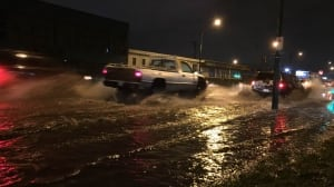 Several Vancouver streets flooded Thursday night