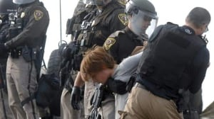 Authorities move in to evict pipeline protesters