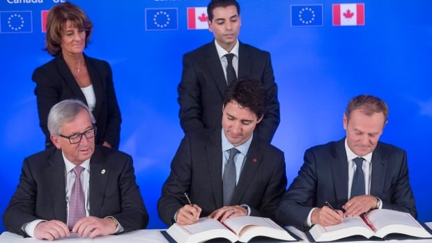 Canada and European Union sign historic free trade agreement amid protests