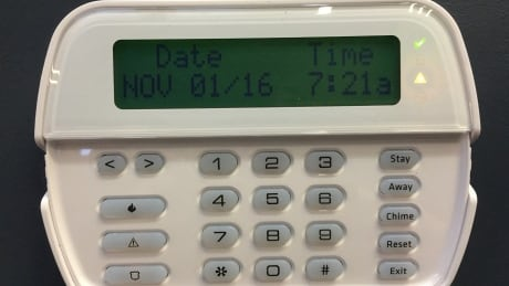 image of security alarm panel