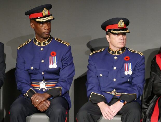 Winnipeg police chief Danny Smyth and Devon Clunis
