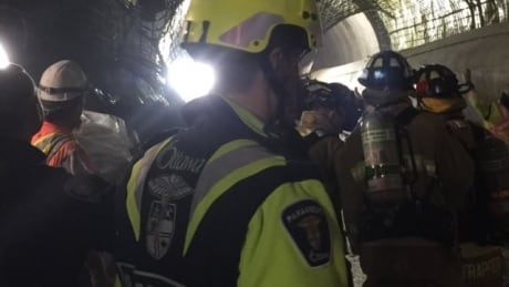 lrt light rail tunnel collapse emergency crews