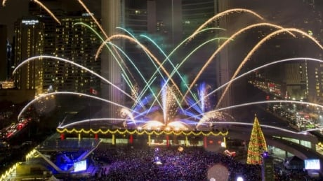 Fireworks at Nathan Phillips Square