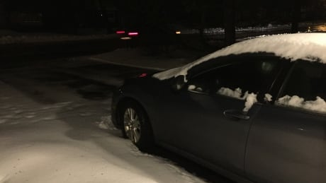 Car in snow, Charlottetown, March 15