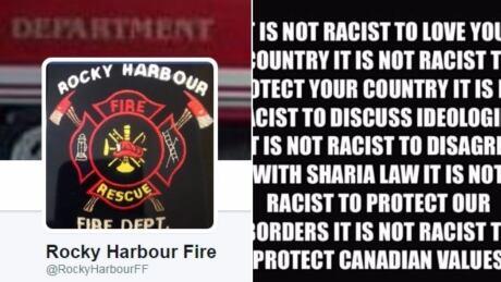 Rocky Harbour fire department fake tweet split