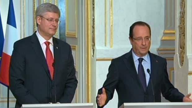 Harper-Hollande meeting