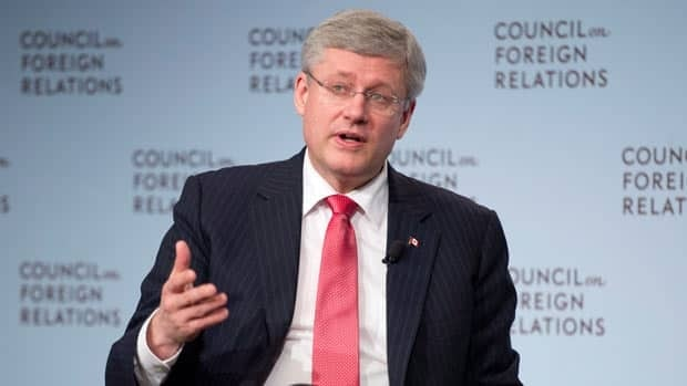 Harper takes questions in New York