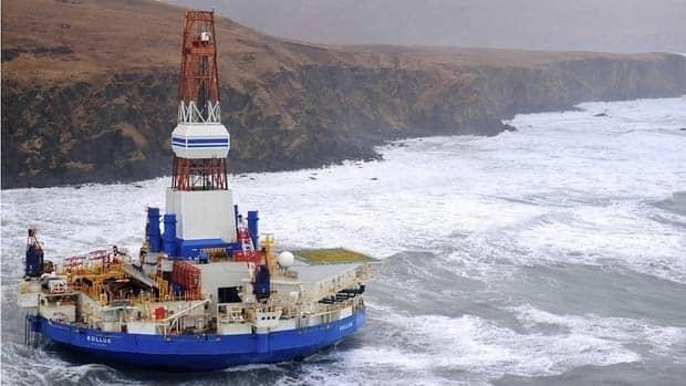 Runaway oil rig