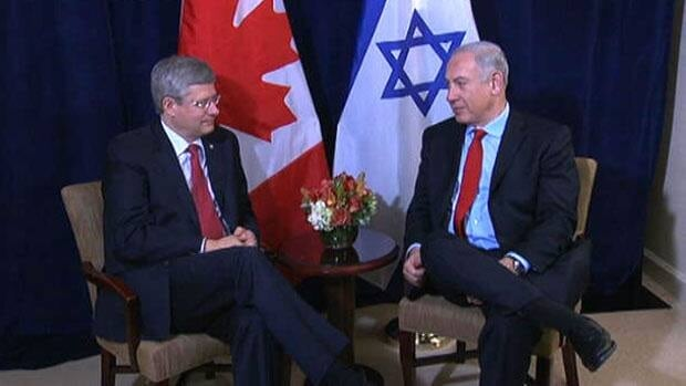 Harper avoids 'red line' on Iran