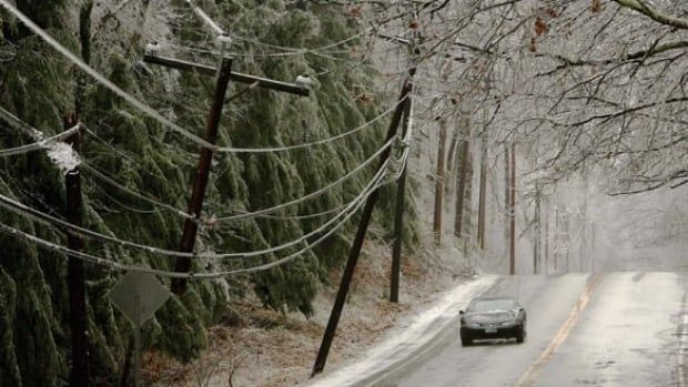 Horizon Utilities says the ice storm threatens to down power lines in the Hamilton area.