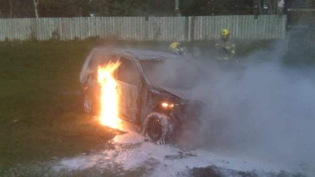 Car fires can be costly for community fire departments to put out, as they often require expensive firefighting foam.