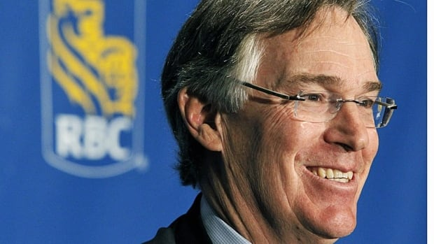 Royal Bank of Canada President and Chief Executive Officer Gordon Nixon looks on at a news conference.