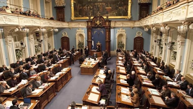 Quebec provincial police say a Montreal man made online threats against the national assembly.