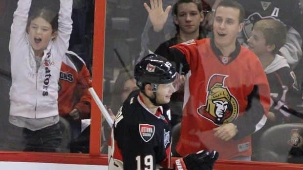 """Senators coach Paul MacLean says the loss of centre Jason Spezza, right, to back surgery is a tremendous opportunity for multiple people to see if they can expand their role with the team. """"We have some young players that believe they can play in the league and believe they can produce at a higher position on the team."""""""